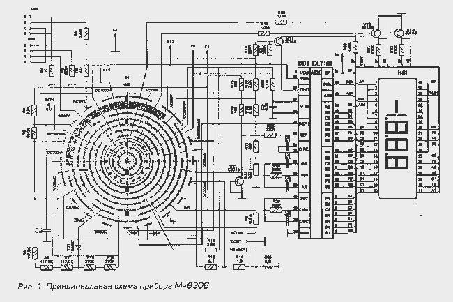 Доработка цифрового мультиметра М-830В.