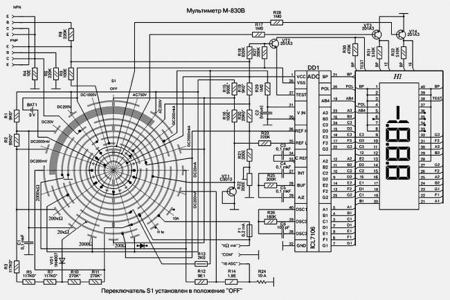 Доработка цифрового мультиметра М-830 (М-838)