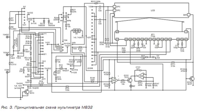 Устройство и ремонт мультиметров серии М-830