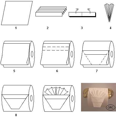 Оригами для туалетной бумаги.