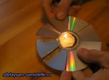 Как сделать вентилятор из CD-диска?