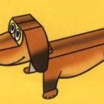 Поделка из бумаги - собака