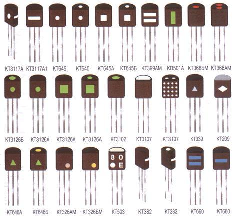 Цветовая маркировка транзисторов