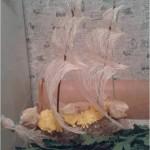 Осенние поделки - цветочный корабль.