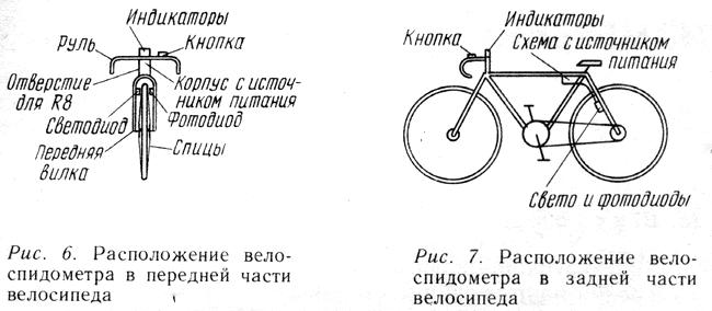 под рулем велосипеда.