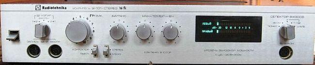 """Доработка усилителя """"Радиотехника У-101-стерео"""""""