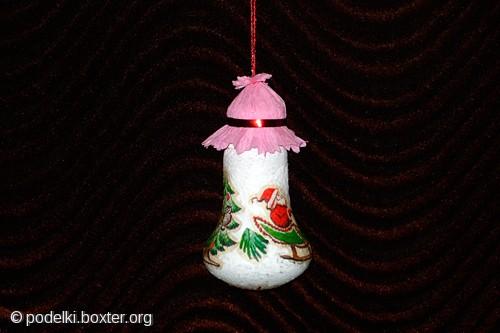 Новогодние поделки из лампочек своими руками