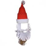 Новогодняя маска своими руками - Санта-Клаус