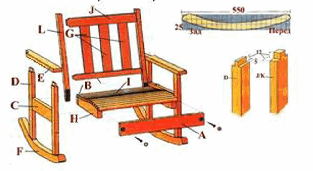 Как своими руками сделать кресло качалку видео