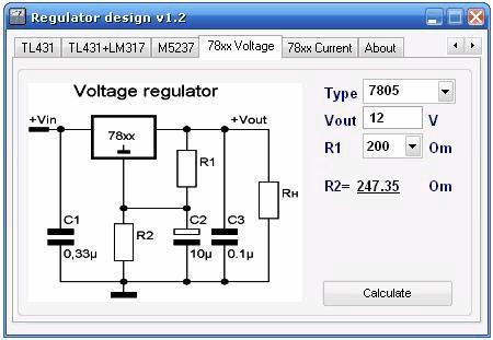 Программа для радиолюбителей - Regulator design v1.2