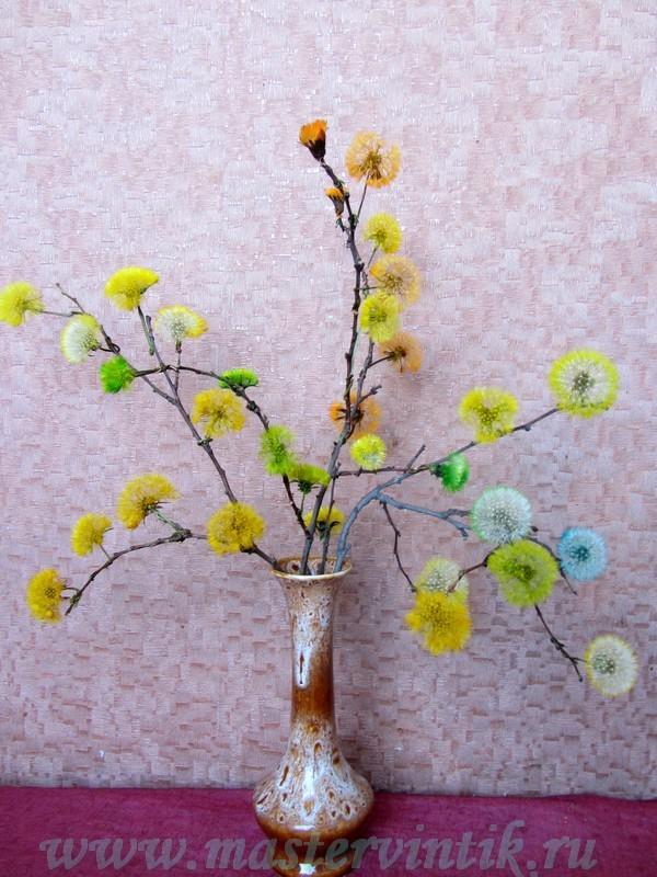 Как покрасить цветы