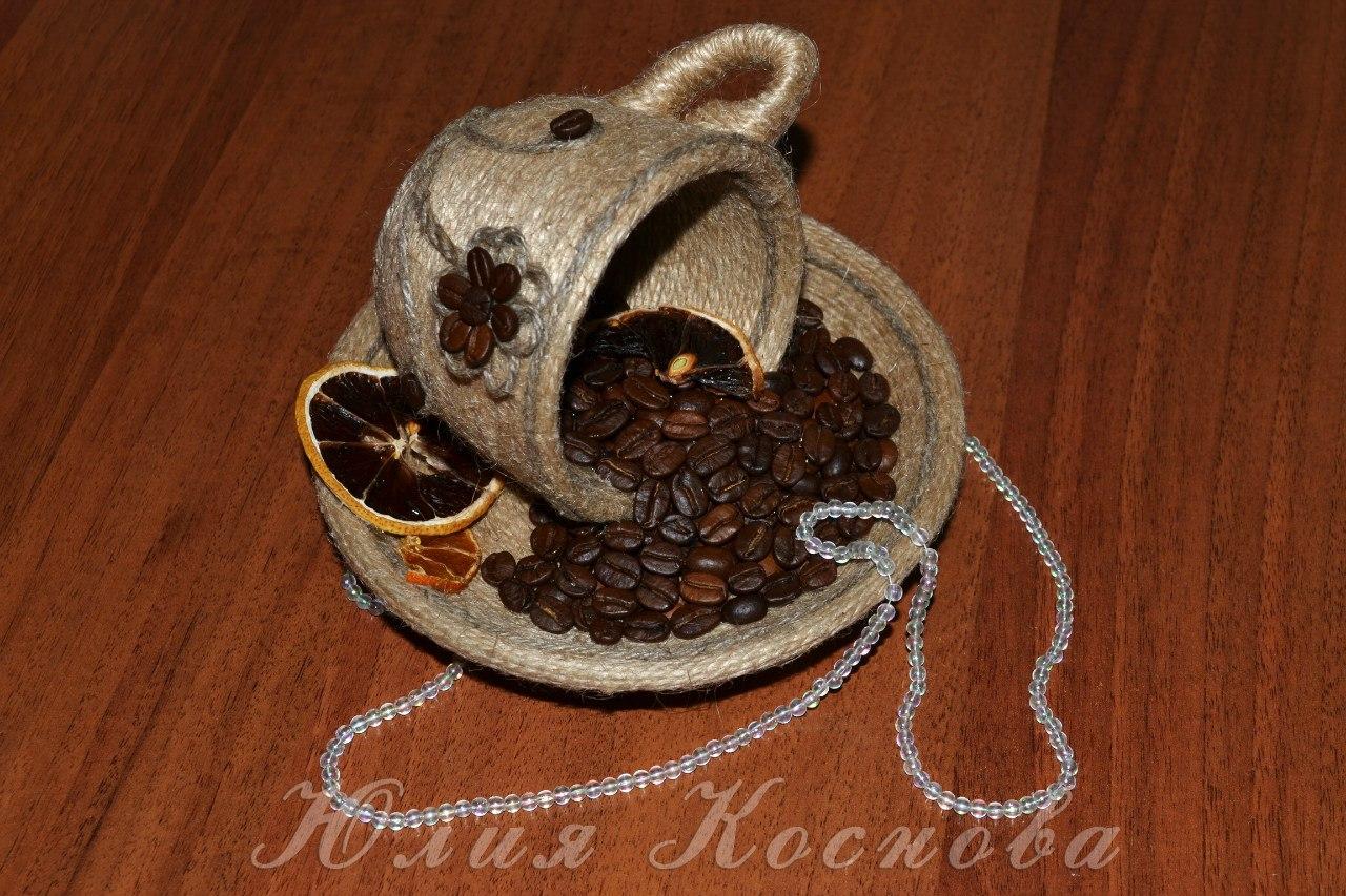 Кофейная ёлочка своими руками