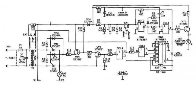 Автомобильные зарядные устройства. Схемы. Принцип работы.