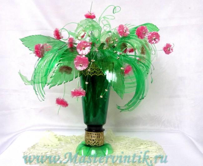Букет из пластиковых бутылок «Весна»