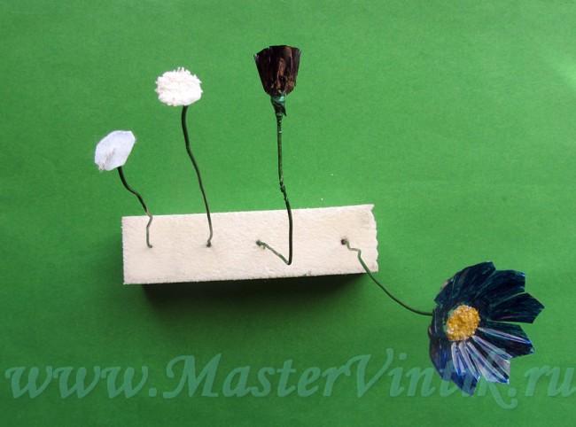 Летний букет цветов своими руками