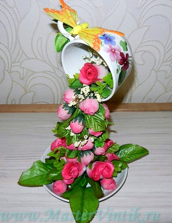 Топиарий «Парящая чашка»