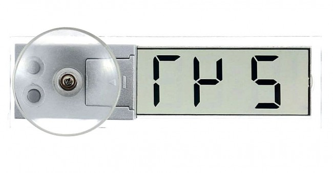 Прозрачные часы на липучке