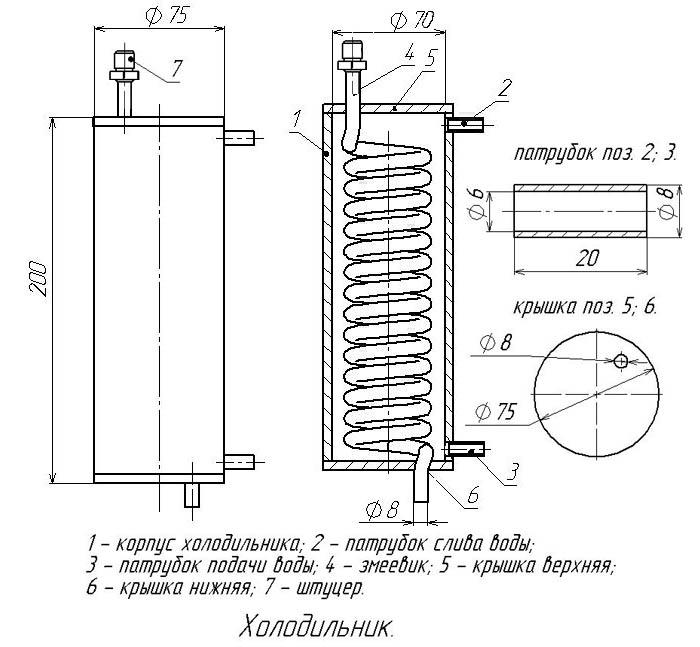 чертеж самогонного аппарата