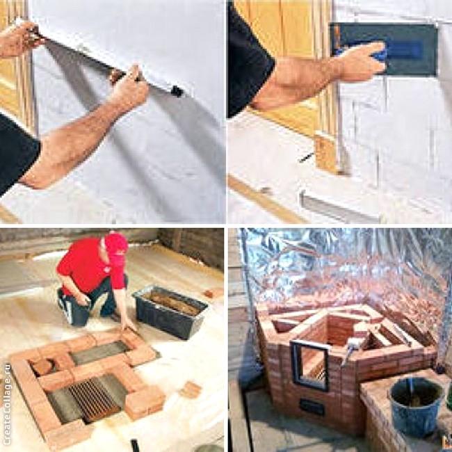 Как сделать камин своими руками?