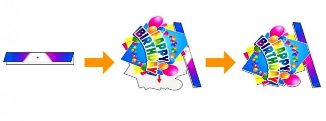 """Как сделать гирлянду """"С Днем рождения"""""""