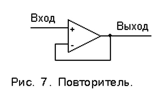 Схемы включения операционных усилителей