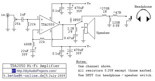 HI-FI усилитель на TDA2050