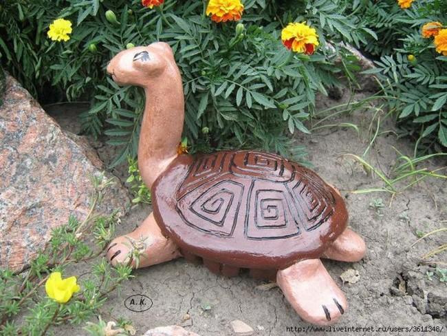 Черепашка - кокетка для сада