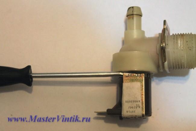 Переделка клапана от стиральной машины на питание напряжением 12 вольт постоянного тока