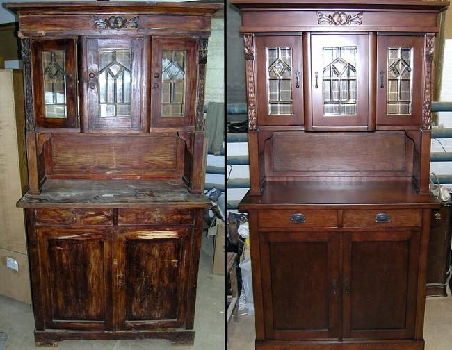Реставрация мебели. Металлическая отделка своими руками.