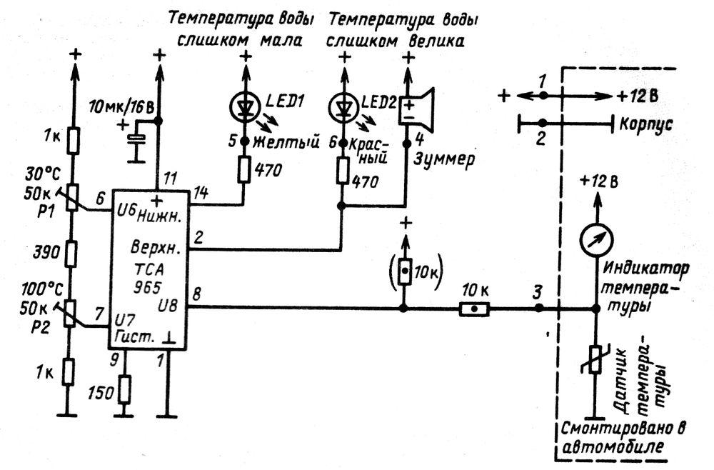 Индикатор контроля охлаждающей