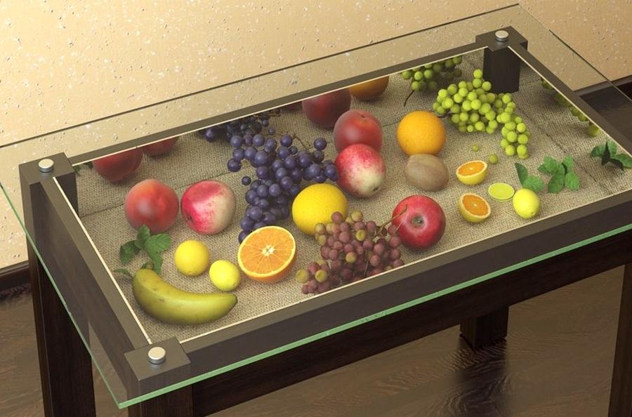 Как своими руками декорировать стеклянный стол