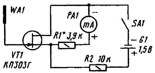 Схемы простых искателей скрытой проводки