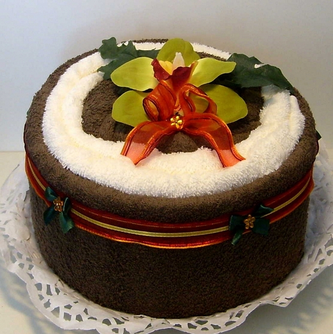 Торт из полотенец своими руками