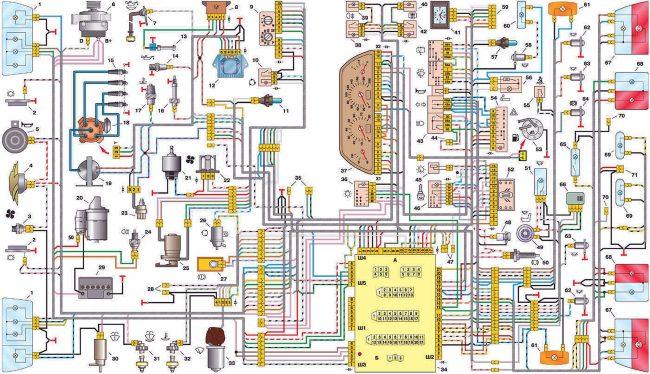 Схема электропроводки и поиск неисправностей