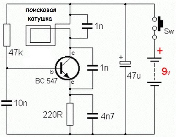 Металлодетектор из приёмника