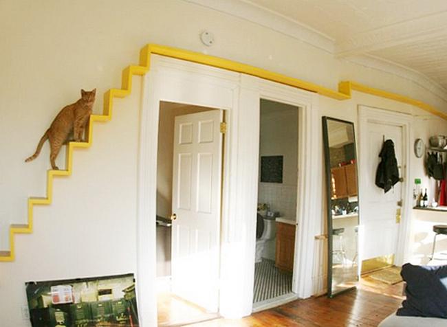 Мини-лестница для кошек