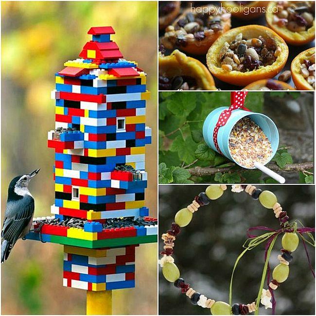 Разнообразие кормушек для птиц