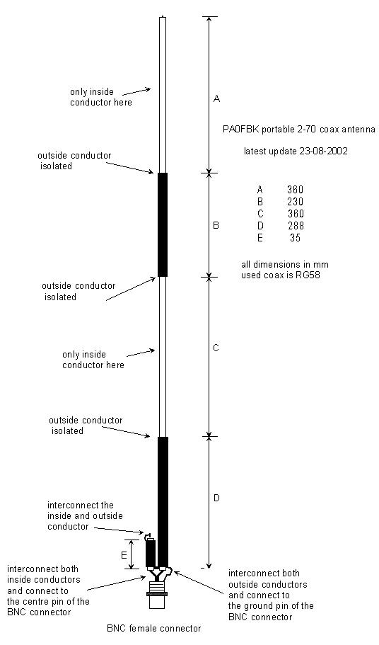Простая антенна для 2 м и 70 см диапазонов