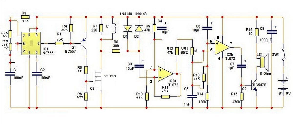 Самодельный глубинный металлоискатель схема и печатная плата.
