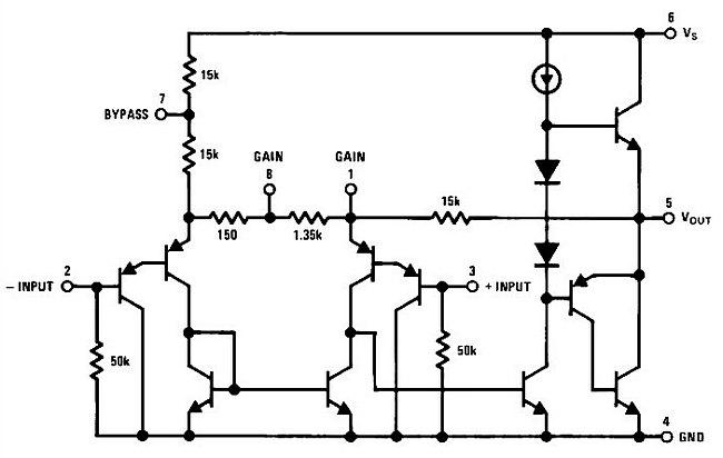 Простой усилитель НЧ на LM386