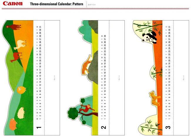 Самодельный цветной календарь из бумаги