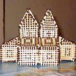 Как сделать красивый домик из спичек?