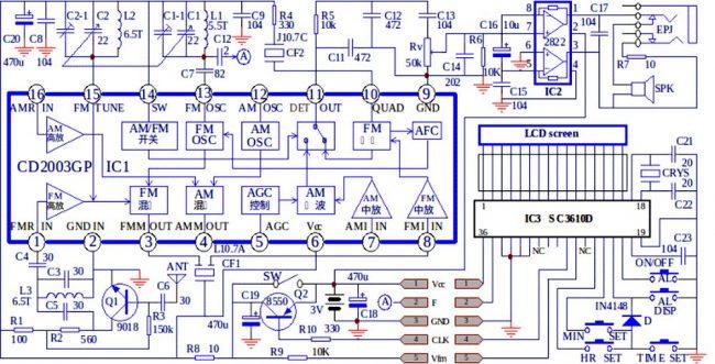 СХЕМЫ ПРОСТЫХ РАДИОПРИЕМНИКОВ на CD2003GB/GP